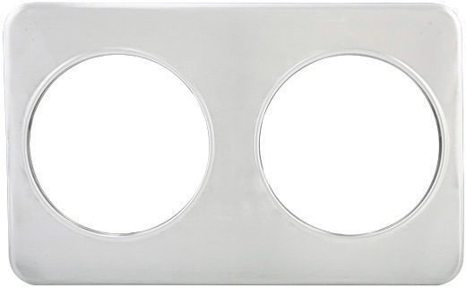 "Winco ADP-808 Adaptor Plate Two 8 3/8"" Holes"