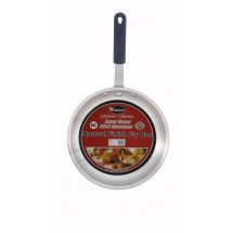 Winco AFP-10A-H Gladiator Natural Finish Fry Pan with Silicone Sleeve 10""