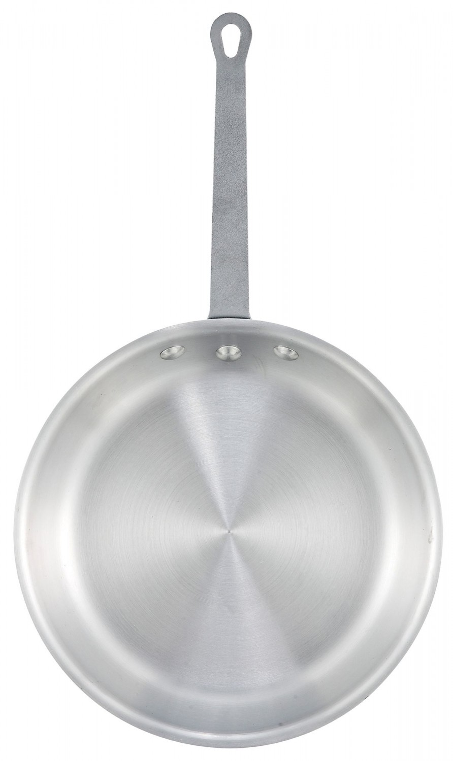 Winco AFP-12A Gladiator Natural Finish Fry Pan 12""