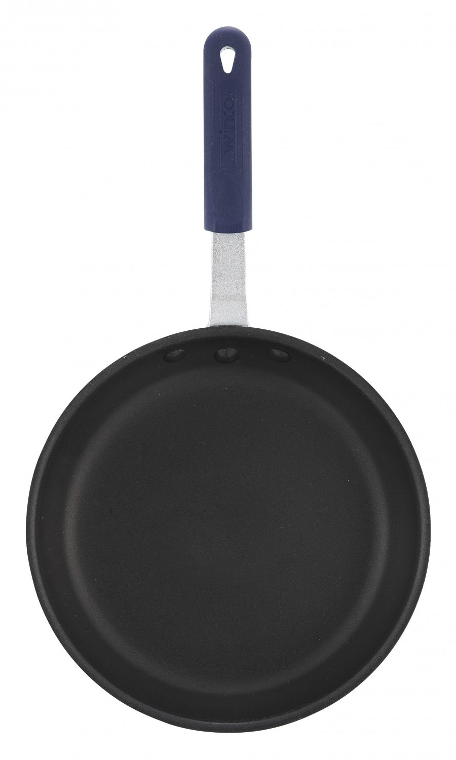Winco AFP-12XC-H Gladiator Fry Pan with Excalibur Coating with Blue Silicone Sleeve 12""