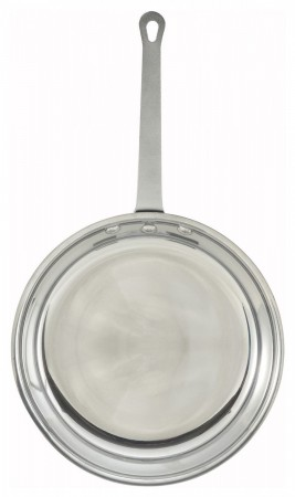 """Winco AFP-14 Majestic Aluminum Fry Pan with Mirror Finish 14"""""""