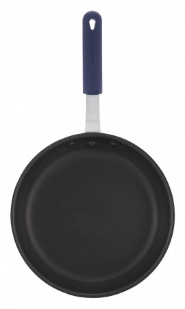 """Winco AFP-14XC-H Gladiator Fry Pan with Excalibur Coating and Blue Sleeve 14"""""""