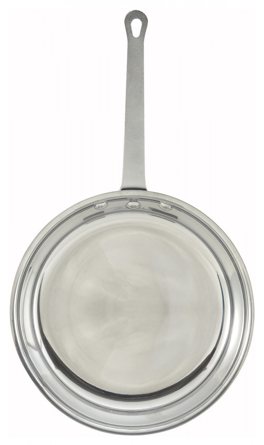 Winco AFP-8 Majestic Aluminum Mirror Finish Fry Pan 8""