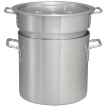 Winco ALDB-12 Aluminum Double Boiler with Cover 12 Qt.