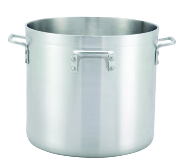 Winco ALHP-140H Precison Aluminum Stock Pot with 4 Handles 140 Qt.
