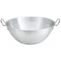 Winco ALO-16H Aluminum Chinese Colander with Handles 16 Qt.