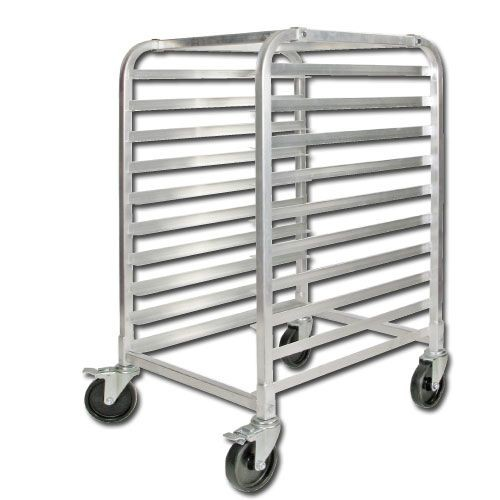 Winco ALRK-10BK 10-Tier Aluminum Sheet Pan Rack with Brake