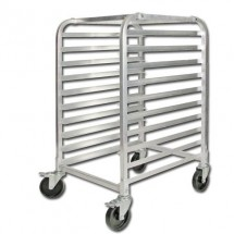 Winco ALRK-10BK  10 Tier Rack with Brakes