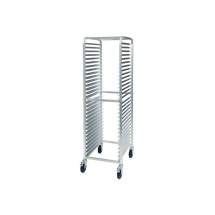 Winco ALRK-30BK Aluminum Sheet Pan Rack with Brake, 30 Tier