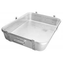 "Winco ALRP-1824L Aluminum Double Roast Pan with Straps & Lugs 18""x 24"""