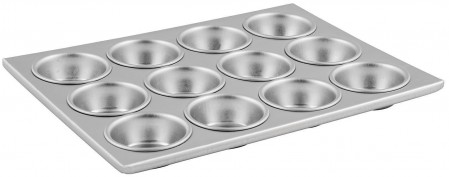 Winco AMF-12 12 Cup Aluminum Muffin Pan