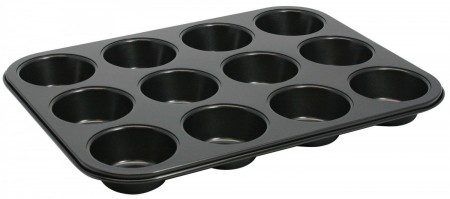 Winco AMF-12NS Non-Stick Aluminum Muffin Pan 12 Cup