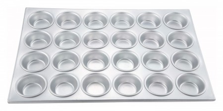 Winco AMF-24 24-Cup Aluminum Muffin Pan