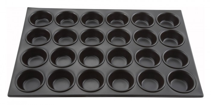 Winco AMF-24NS Non-Stick Muffin Pan 24 Cup