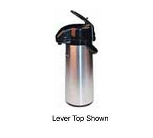 Winco AP-519 Push Button Stainless Vacuum Server with Glass Liner 1.9 Liter