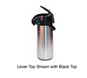 Winco AP-519DC Stainless Decaf Push Button Vacuum Server with Glass Liner 1.9 Liter