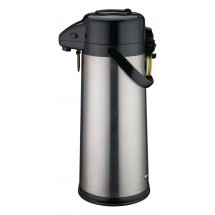 Winco AP-535  Stainless Push Button Vacuum Server with Glass Liner 3.0 Liter