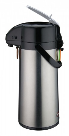 Winco AP-822 Stainless Vacuum Server with Glass Liner, Lever Top 2.2 Liter