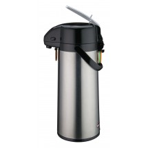 Winco AP-825 Stainless Vacuum Server with Glass Liner, Lever Top 2.5 Liter