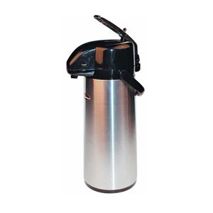 Winco AP-835DC Stainless Decaf Vacuum Server with Glass Liner, Lever Top 3.0 Liter