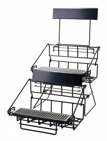 Winco APRK-4 Four Compartment Black Wire Airpot Rack