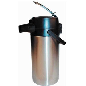 Winco APSK-730DC Stainless Decaf Vacuum Server, Lever Top  3.0 Liter