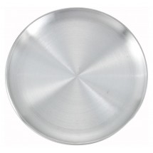 "Winco APZC-10 10"" Aluminum Coupe-Style Pizza Pan"