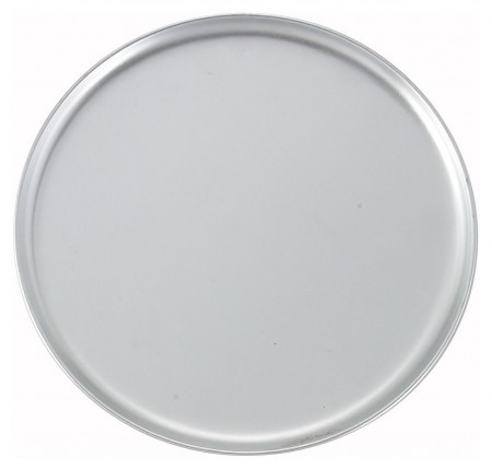 Winco APZC-13 Coupe-Style Aluminum Pizza Pan 13""
