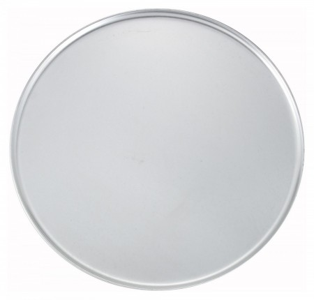 Winco APZC-18 Coupe-Style Aluminum Pizza Pan 18""