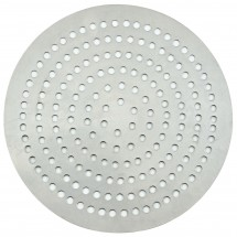 "Winco APZP-10SP Aluminum Super-Perforated Pizza Disk, 10"" Diameter, 164 Holes"