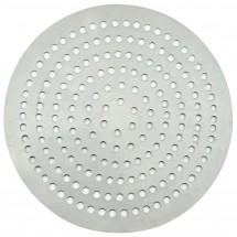 "Winco APZP-11SP Aluminum Super-Perforated Pizza Disk, 11"" Diameter, 226 Holes"