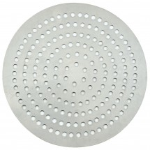 "Winco APZP-14SP Aluminum Super-Perforated Pizza Disk, 14"" Diameter, 370 Holes"