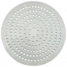 "Winco APZP-17SP Aluminum Super-Perforated Pizza Disk, 17"" Diameter, 550 Holes"