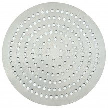 "Winco APZP-9SP Aluminum Super-Perforated Pizza Disk, 9"" Diameter, 114 Holes"