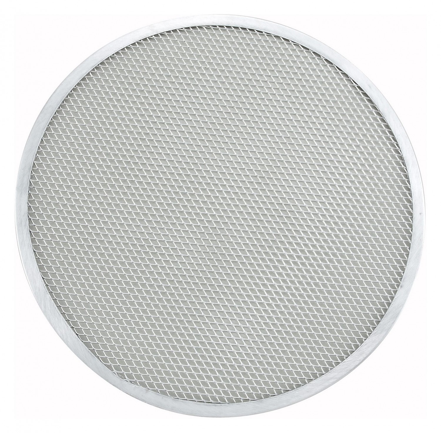 Winco APZS-15 Aluminum Mesh Seamless Pizza Screen, 15""