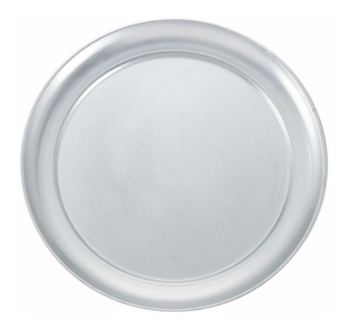 "Winco APZT-12 12"" Aluminum Wide Rim Pizza Pan"