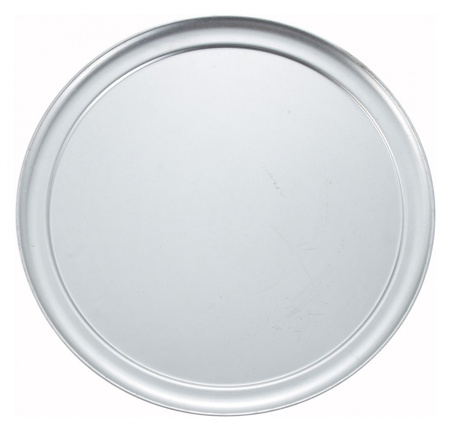 "Winco APZT-13 13"" Aluminum Wide Rim Pizza Pan"
