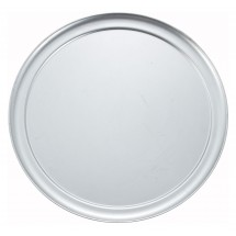 "Winco APZT-15 15"" Aluminum Wide Rim Pizza Pan"