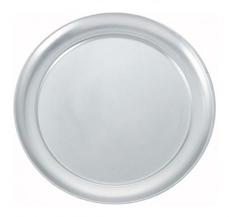 Winco APZT-9 Wide Rim Aluminum Pizza Pan 9""