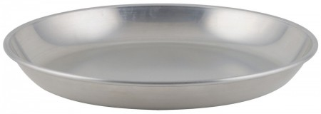 Winco ASFT-12 Round Brushed Aluminum Seafood Platter Tray 75 oz.