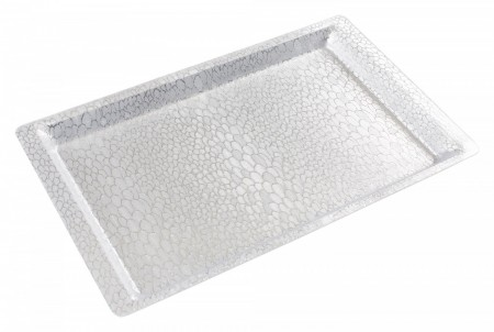 Winco AST-1S Full Size Silver Textured Acrylic Display Tray