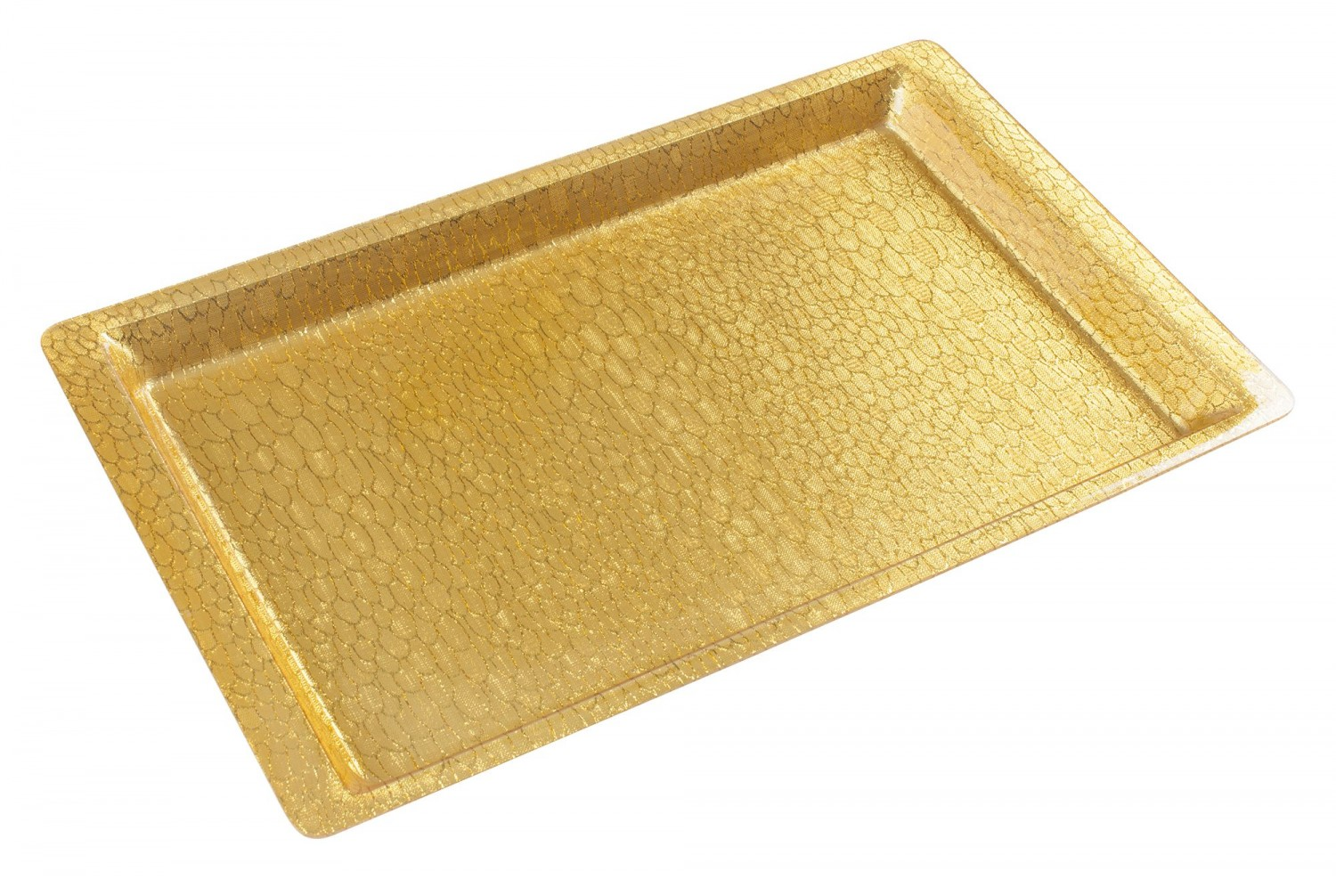 Winco AST-2G Full Size Gold Textured Acrylic Display Tray