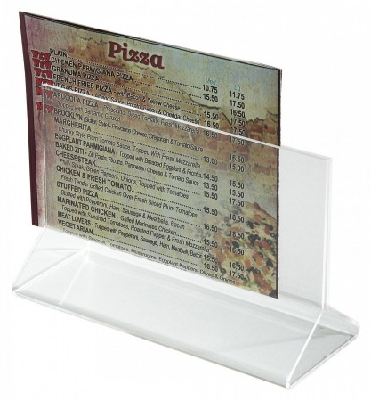 "Winco ATCH-53 Acrylic Menu Card Holder 5-1/2"" x 3-1/2"""