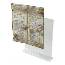"Winco ATCH-811 Acrylic Menu Card Holder 8"" x 11"""