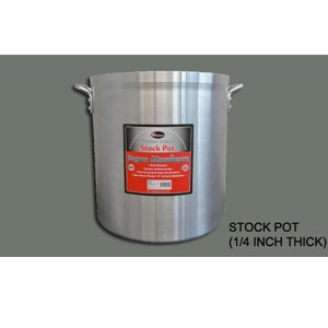 Winco AXHH-80 Super Aluminum Stock Pot 80 Qt.