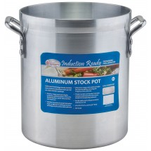 Winco AXSI-10 Induction Ready Aluminum Stock Pot 10 Qt.
