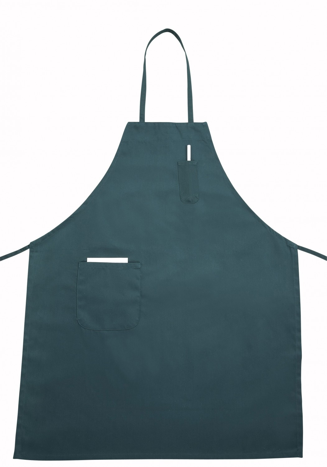 Winco BA-PGN Green Full-Length Bib Apron with Pocket