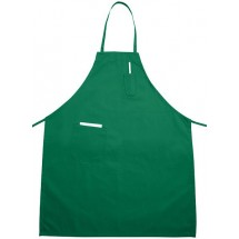 Winco BA-PLG Full Length Bright Green Bib Apron with Pocket