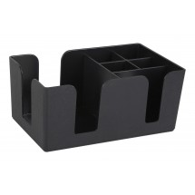 Winco BC-6 6 Compartment Black Bar Caddy