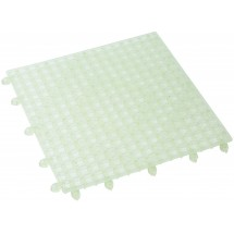 "Winco BML-12C Interlocking Clear Bar Mat 12"" x 12"""